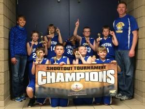 4th grade boys B champs Canton C-Hawks