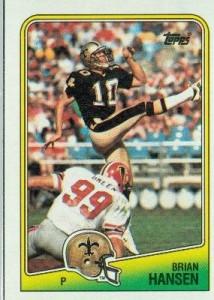 Brian Hansen football card